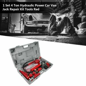 1 Set 4 Ton Hydraulic Power Jack Body Power Repair Kit Tools Red For Car Van