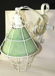 Vintage Porch Patio Garden Wall Sconce Lamp Light Wrought Iron Cage Fixture