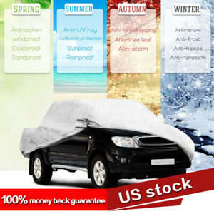 5 Layer Dustproof Full Pickup Truck Car Cover For Indoor Outdoor Fits Up To 236