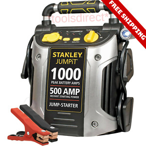 Portable Heavy Duty Battery Jump Box Booster Pack Engine Starter Charger Led