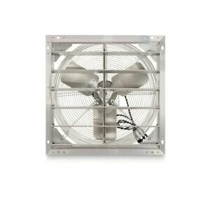 Hessaire 20 Inches Exhaust Fan Heavy Duty Aluminum Shutter Prewired With 9 Cord