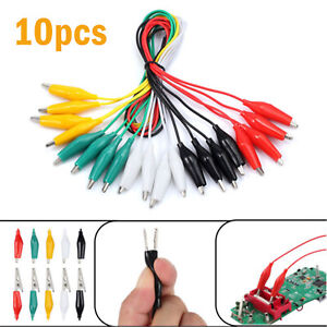 10 Electric Alligator Clip Test Leads Double ended Crocodile Clip Jumper Cable