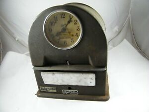 Simplex Time Recorder Time Equipment Seattle Wash Punch Clock Works