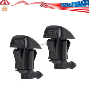 2pcs Front Windshield Washer Wiper Spray Nozzle For Chevrolet Malibu 2008 2012