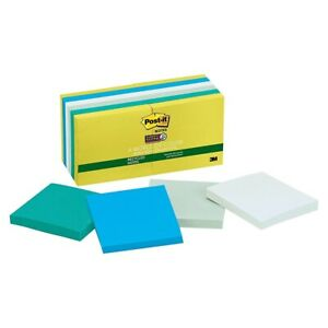 Post it Super Sticky Notes Bora Bora 12 Pads Bora Bora