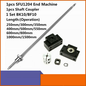 Ball Screw Sfu1204 Rm1204 12mm L250 1500mm W Nut Bk bf10 End Supports coupler