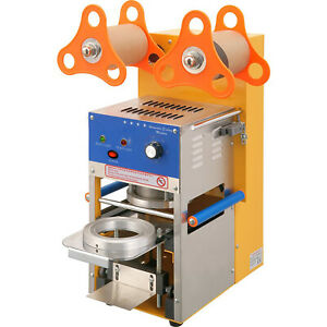 Automatic Cup Sealer Sealing Machine 400 600 Cup hr Boba Coffee Bubble Tea
