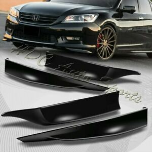 For 2013 2015 Honda Accord 4 dr Hfp style Blk Front rear Bumper Spoiler Lip 4pc