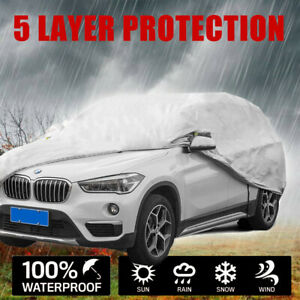 Car Cover 5 Layers Pickup Truck Waterproof Rain Snow Dust Proof fits Up To 236