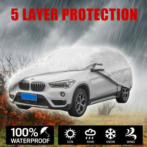 Outdoor Full Car Cover 5 layer For Suvs Crossovers Up To 189 Uv Protection