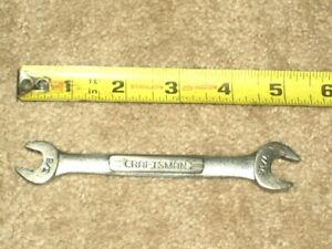 Craftsman Double Open End Wrench V 44572 Sae 3 8 And 7 16 Made In Usa