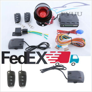Us Stock Car Truck Alarm System Anti Theft Door Locking Keyless Entry Remote Set