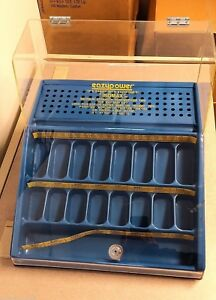 New Drill Bit Countertop Display Case With Lock Acrylic Top reduced Shank Slot