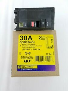 Square D Qob230vh 2 Pole 30 Amp 120 240vac Bolt on Circuit Breaker New Open Box