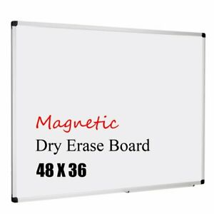 Magnetic Whiteboard Dry Erase Board With Detachable Marker Tray
