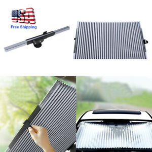 Auto Car Retractable Windshield Sun Shade Visor Folding Block Cover Back Window