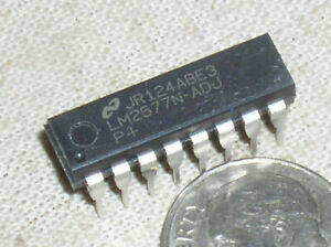 1 National Lm2577n Simple Switcher Step Up Converter Power Supply Ic Dip 16 Usa