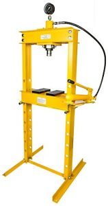 Jegs 81638 Hydraulic Shop Press 20 Ton Floor Mount Working Range Up To 30 3 4 I