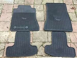 Oem 2015 2018 Ford Mustang Front Rear All Weather Floor Mats Set Black