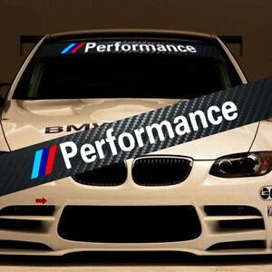 M Performance Tri Color Front Windshield Decal Bumper Banner Sticker For Bmw