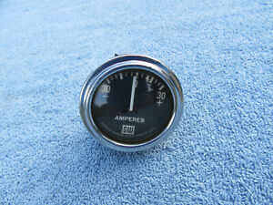 Vintage Stewart Warner Big Block Logo Curved Glass Amp Gauge