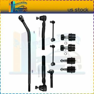 Suspension 10 X Front Rear Sway Bars Tie Rods Ball Joints Fits Jeep Wrangler