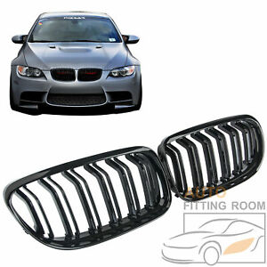 Gloss Black Double Slat Front Kidney Grille Grill For Bmw E90 325i 335i 2009 11