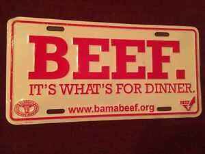 Beef Alabama Cattlemen s Metal Tag Plate Metal Sign Cow Farm Truck Tractor 4x4