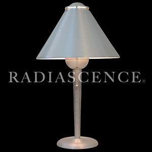 Soundrite Modern Streamline Art Deco Aluminum Table Lamp Nessen Warren Mcarthur