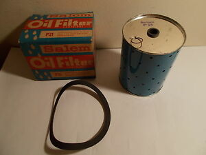 Vintage Canister Oil Filter Small Style P 51 Purolator 4 7 8 High By 3 7 8 O D