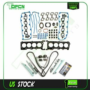 For 99 00 Ford Mustang 4 6l V8 Dohc Engine Timing Chain Kit W Head Gasket Set