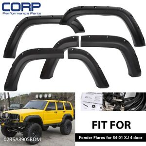 For Jeep Cherokee Xj 4 door 84 01 Pocket Rivet Off road Wheel Wide Fender Flares