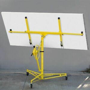 16 Ft Drywall Lift Panel Hoist Plasterboard Sheetrock Jack Lifter Rolling Tool