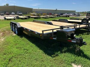 2021 20 2 Hd Flatbed With Dovetail With Triple 7k Axles