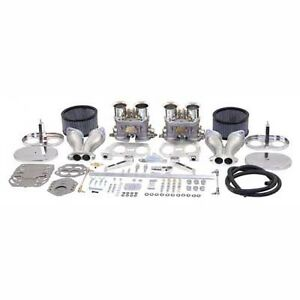 Vw Bug Dual Empi 44 Hpmx Carburetor Kit W Standard Air Cleaners