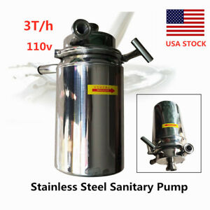 750w Stainless Steel Sanitary Pump Beer Beverage Delivery Centrifugal Pump 3t h