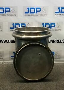 4 Pack Used Stainless Steel Barrel Drum Pot 25 Gallon Heavy Duty