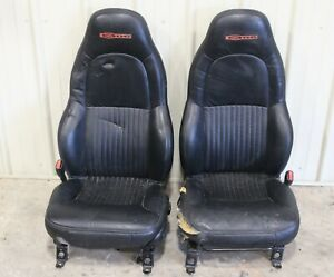 2001 2004 Corvette C5 Z06 Black Leather Seats With Seat Brackets Used Oem Gm