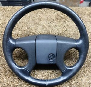 79 95 Vw Oem Steering Wheel Mk1 Mk2 Jetta Cabriolet Rabbit Gti Corrado Leather