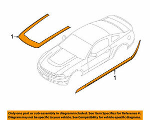 2010 2013 Ford Mustang Oem Hood And Body Decal Sticker Kit Ar3z 6320000 ha
