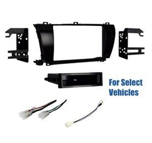 Single Din Car Stereo Dash Wire Kit Combo For Some 2014 2015 2016 Toyota Corolla