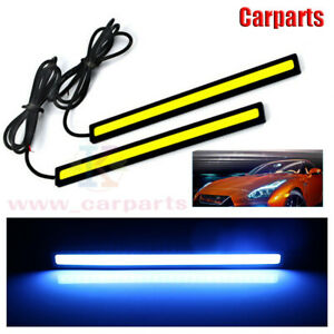 2pcs Ice Blue 12v Led Drl Strip Lights Car Truck Boat Interior Under Dash Floor
