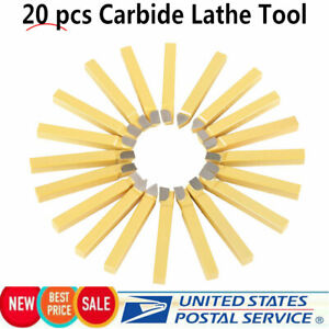 20pc 3 8inch Carbide Tip Tipped Cutter Tool Bit Cutting Set For Metal Lathe Tool