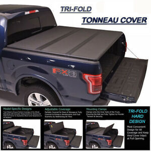 For 2009 2018 Dodge Ram 1500 Crew Cab 5 7 Feet Lock Hard Tri fold Tonneau Cover