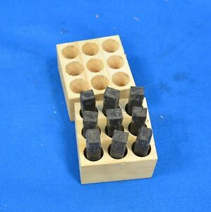 Young Bros 09091 9 Piece Machine Made Stamp Figure Set Steel 1 2 Character Size