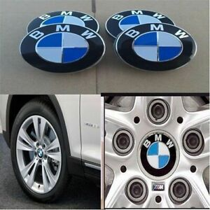4pcs Genuine Bmw Emblem Logo Badge Hub Wheel Rim Center Cap 68mm Set Of 4 Covers