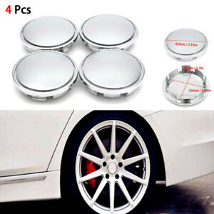 4x Universal 52mm Abs Vehicle Car Wheel Center Caps Cover Tyre Tire Rim Hub Cap