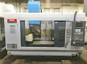 Mazak Vtc 200b 4 axis Cnc Vertical Machining Center With Rotary Table And Fusion