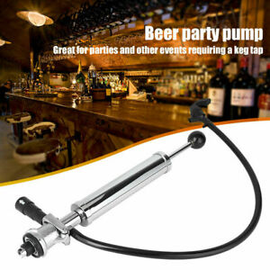 8 Inch Heavy Duty Party Beer Pump Draft Beer Keg Tap Stainless Steel Chrome Pump
