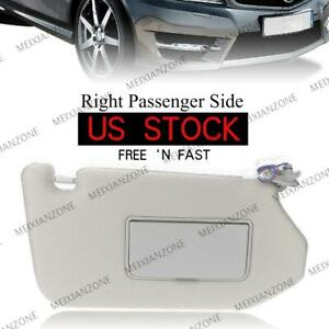 Right Sun Visor For Nissan 2013 Pathfinder 2014 17 Infiniti Qx60 W Light 1pc